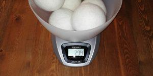 Decdeal Trocknerball Test Gewicht